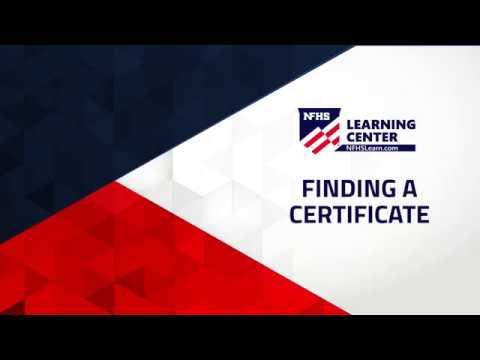 Find certificate