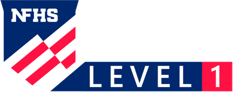 Music logo level one white